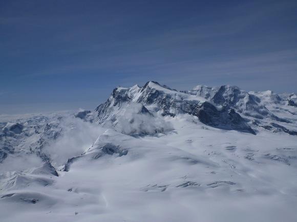 Signalkuppe, Dufurspitze und Nordend vom Strahlhorn aus Gesehen