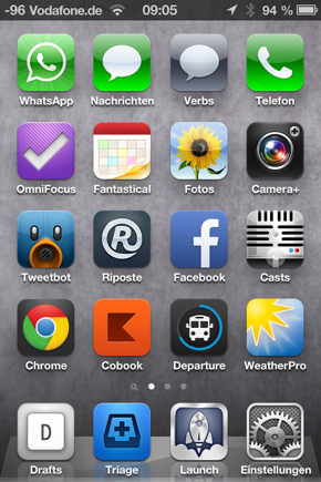 Homescreen iPhone