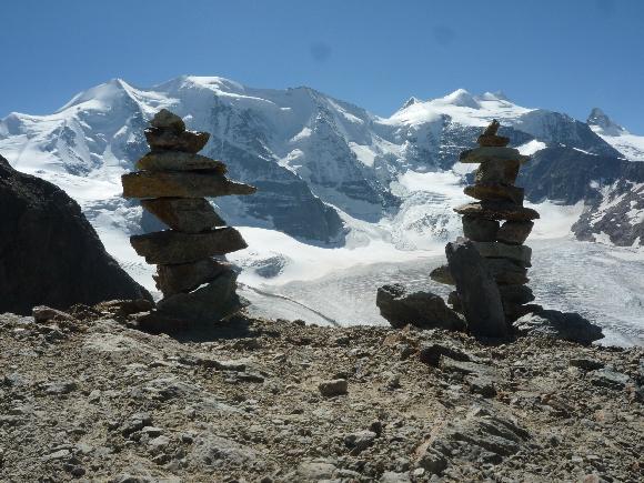 Der Festaal der Alpen, links sieht man den Piz Palü