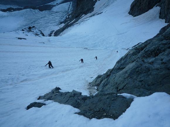 Die Schneeflanke zur Fuorcla Prievlusa