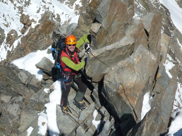 Schöne Kletterei am Übergang