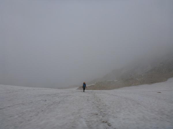 Rund 100HM Eisfeld gilt es zu Queren