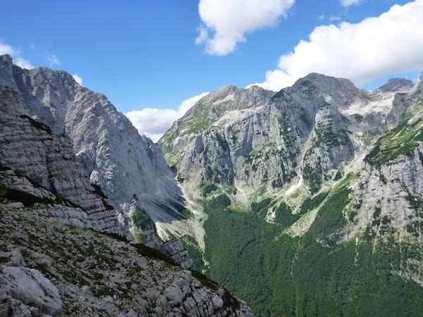 Der Blick zum zurück Luknja Pass
