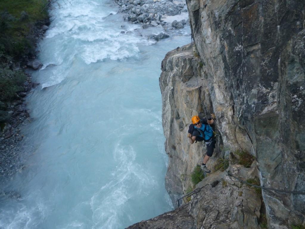 Zur Erholung haben wir einen kleinen Klettersteig am Plan Du Lac gemacht