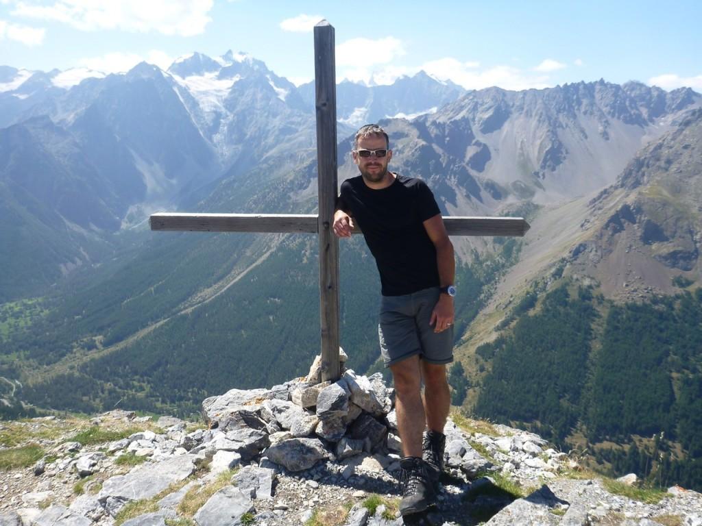 Am Gipfel der Aiguillette du Lauzet