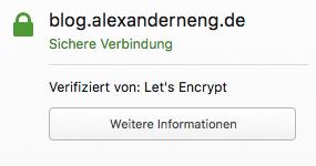 Jetzt gibt es SSL von Let`s Encrypt