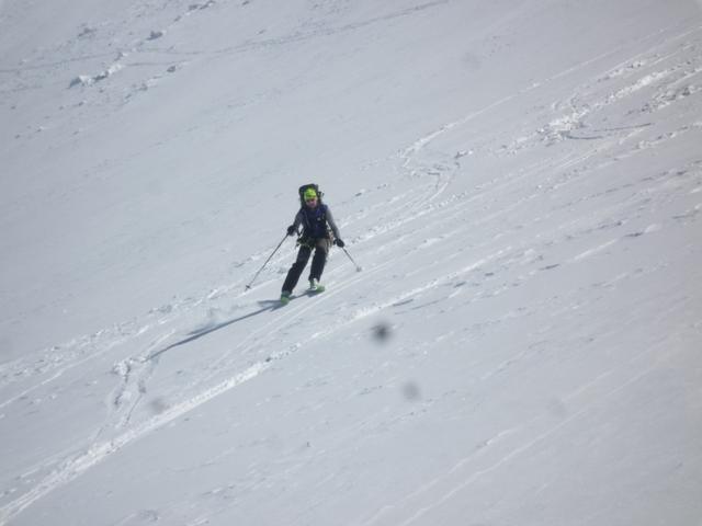 Abfahrt vom Silvrettahorn