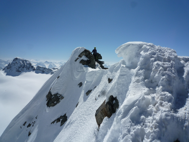 Luftiger Grat am Silvrettahorn