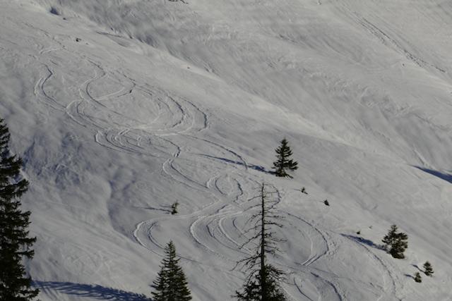 Ein paar spuren im Schnee konnten wir auch hinterlassen...