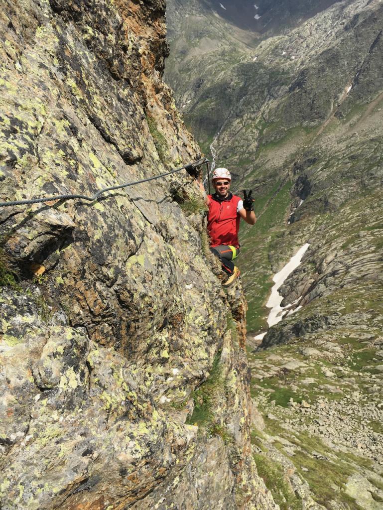 Spaß im Klettersteig